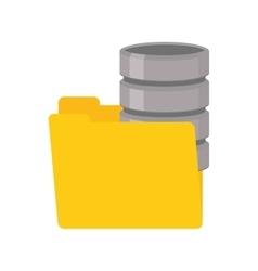 folder data server computer vector image