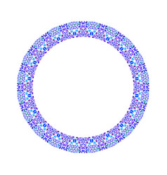 Geometrical colorful abstract floral round border vector