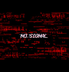 Glitch screen no signal tv noise vhs digital pixel vector