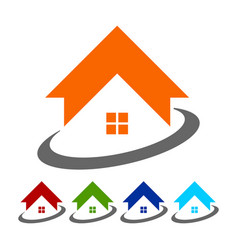 Global housing logo icon symbol vector
