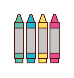 Graphic design colors crayons pencil draw vector