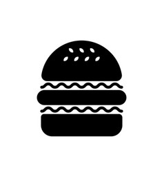 Hamburger silhouette vector