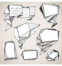 hand drawn triangle bubbles vector image