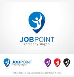 Job point logo template design vector
