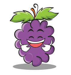 Laughing grape character cartoon collection vector