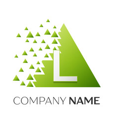 letter l logo symbol in colorful triangle vector image