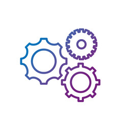 line gears engineering industry process technology vector image