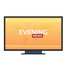 mass media evening news banner live tv show vector image