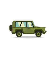 Military car transportation soldiers special vector