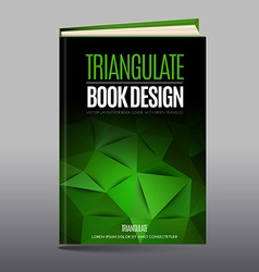 Modern abstract brochure as book cover vector