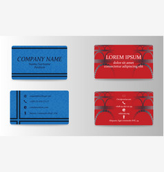 modern creative and trending business visit cards vector image
