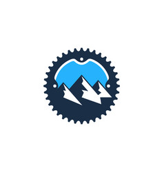 mountain bike logo icon design vector image