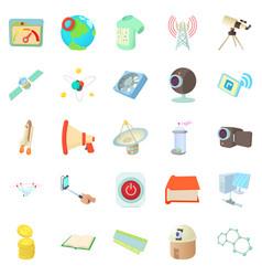 Novation icons set cartoon style vector