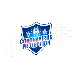 Novel coronavirus covid-19 protection shield vector
