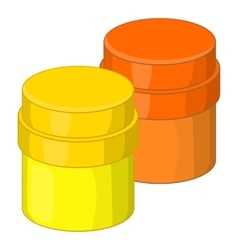 Paint cans icon cartoon style vector image