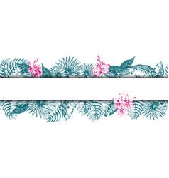 palm leaf sketch11 vector image