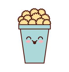 pop corn kawaii character vector image