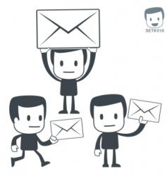 postman icon set vector image vector image