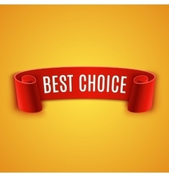 Red realistic Ribbon vector image