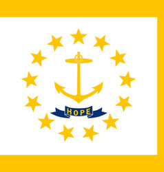 Rhode island state flag vector