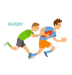 rugplayers man chasing opponent competition vector image