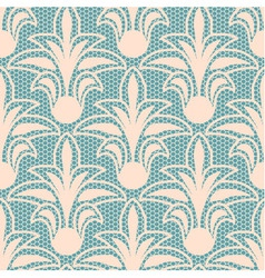 Seamless beige floral lace pattern vector