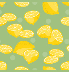 seamless pattern lemon slice vector image