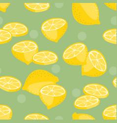 Seamless pattern lemon slice vector