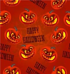 Seamless texture Happy Halloween with pumpkins vector image