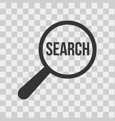 search word magnifying glass icon set vector image