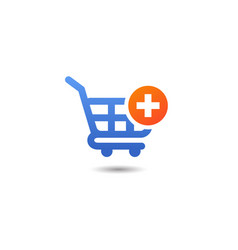 Shopping cart add item icon design add to cart vector
