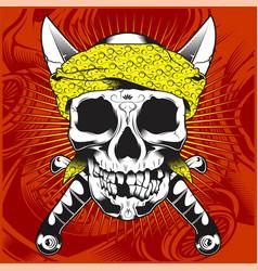 Skulls guns mafias gangsters deaths criminals vector