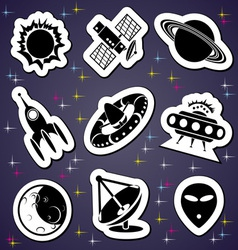 space exploration label vector image