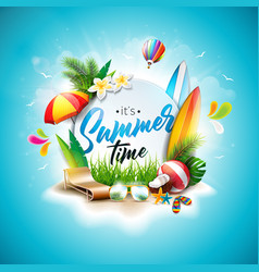 Summer time holiday typographic vector