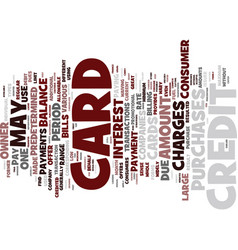The best credit card offers text background word vector