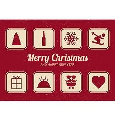 To do list for Christmas Fun Christmas card Flat vector