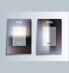 two gradient cover template design for flyer vector image