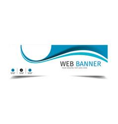 Web banner blue wave design background imag vector