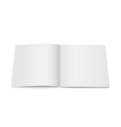 White mock up of magazine isolated vector