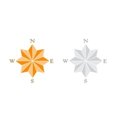 Windrose gray and orange vector image