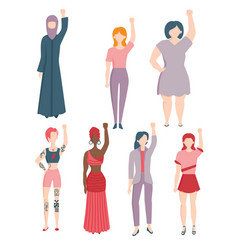 women agains gender a racial discrimination vector image