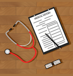 Write patient medical history vector