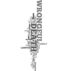 Wrongful death lawyers text word cloud concept vector