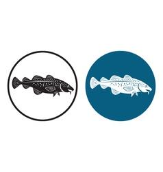 codfish vector image vector image