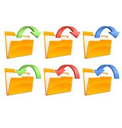 folders with arrows vector image vector image
