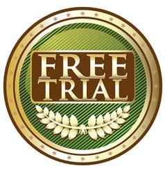 Free Trial Green Emblem vector image
