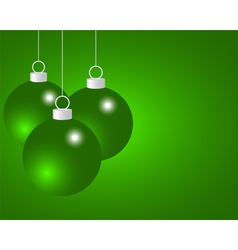 Green Christmas balls vector image vector image