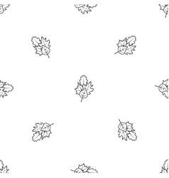 leaves pattern seamless black vector image