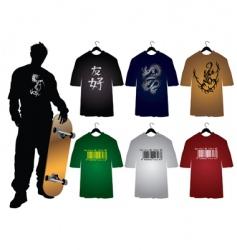 Men's t-shirts vector image vector image
