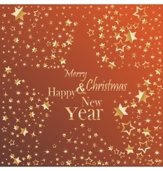 Merry Christmas and Happy New Year gold glittering vector image vector image